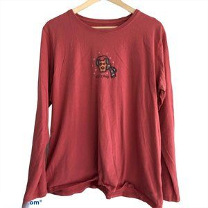 Life is Good Chilly Dog Long Sleeve T-Shirt Top XL